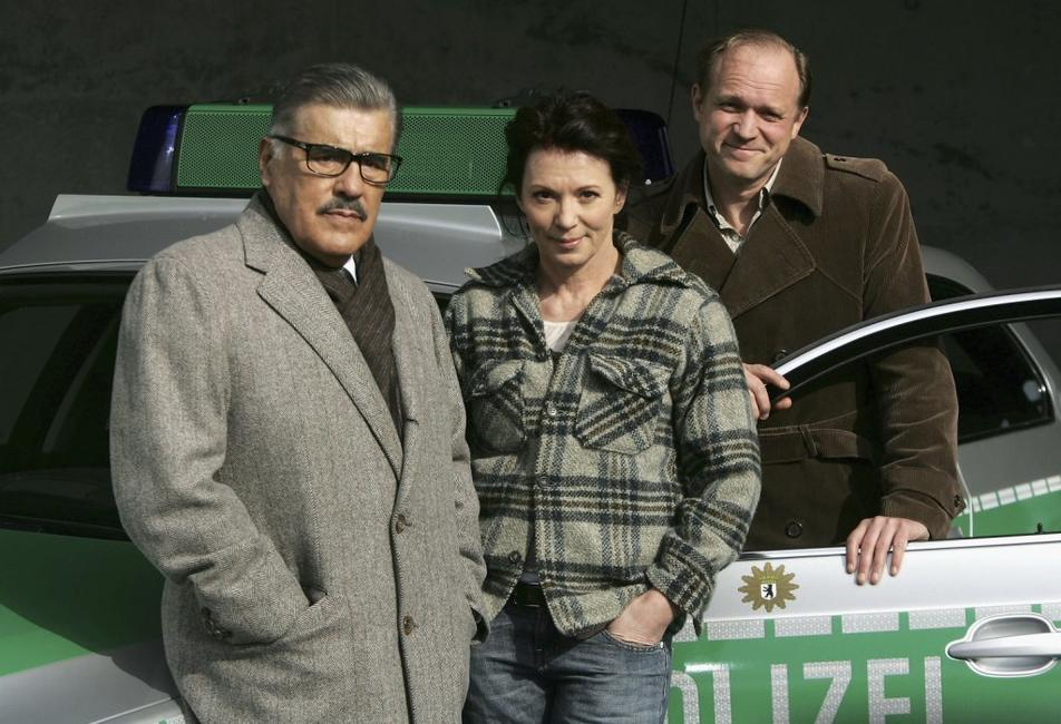 Mario Adorf, Iris Berben and Ulrich Tukur at the photocall of
